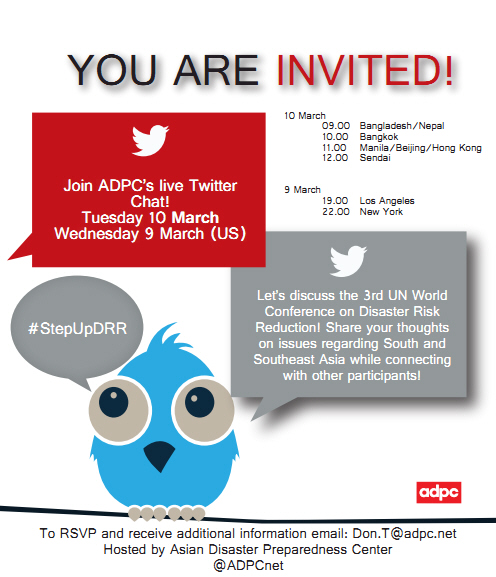 ADPC to host Twitter Chat discussing the 3rd UN World Conference on